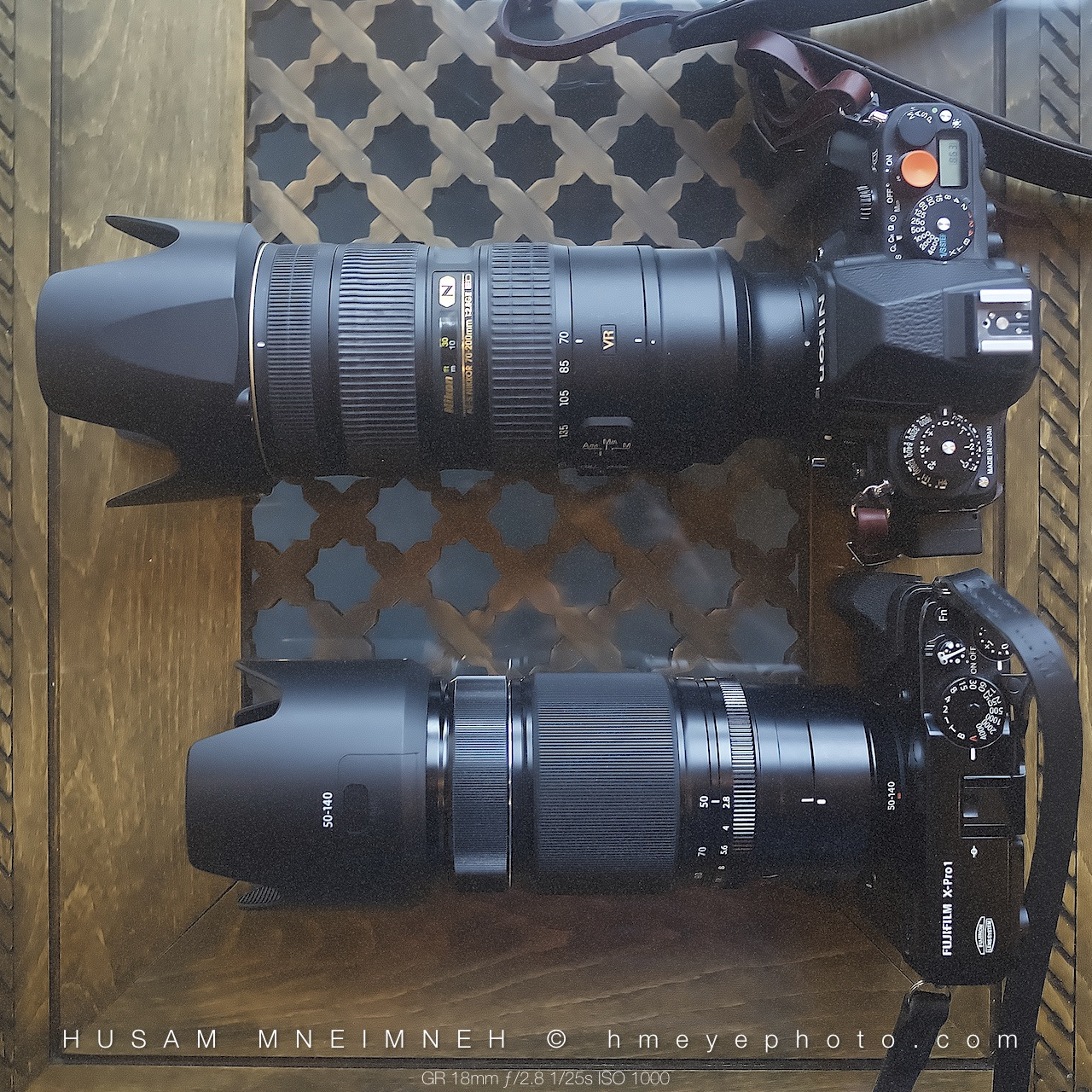 fuji xf 50 140 f2 8 wr vs nikkor 70 200mm f2 8 vr ii size comparison husam mneimneh. Black Bedroom Furniture Sets. Home Design Ideas