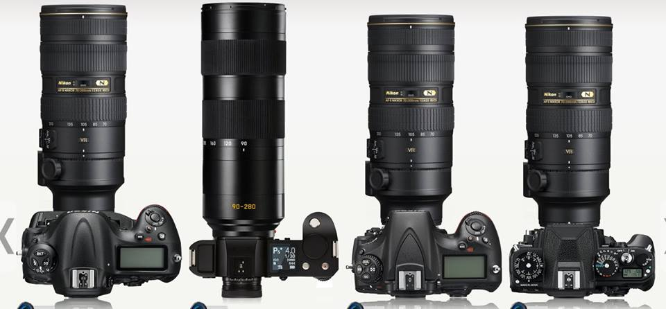 D4s with 70-200/2.8 VRII - SL with 90-280/2.8-4 - D810 with 70-200/2.8 VRII VR - Dƒ with 70-200/2.8 VRII